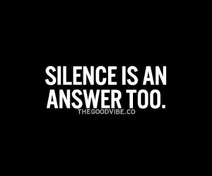 answer, silence, and too. image