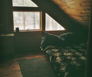 bed, floor, and rug image