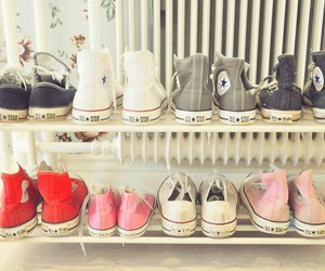 converse, pink, and red image