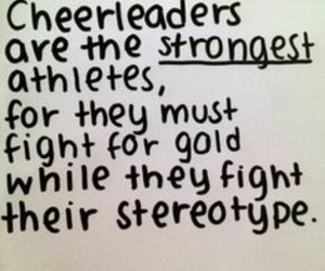 Stronger, athletes, and cheer image