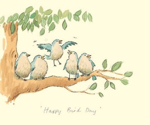 bird, birds, and birthday image