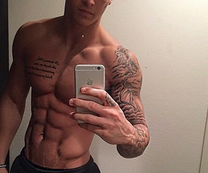 abs, beautiful, and gay image