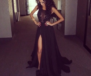 dress, black, and hair image
