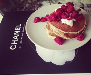 chanel, pancakes, and food image