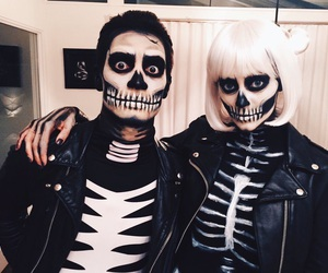brendon urie, sarah urie, and Halloween image
