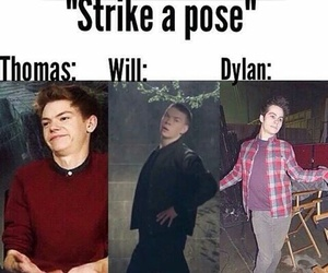dylan o'brien, thomas, and funny image