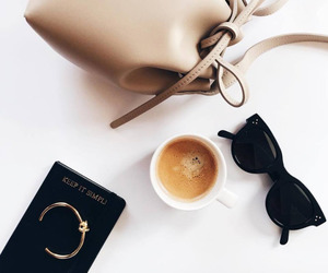 fashion, coffee, and bag image