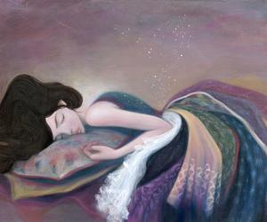 art, drawing, and sleep image