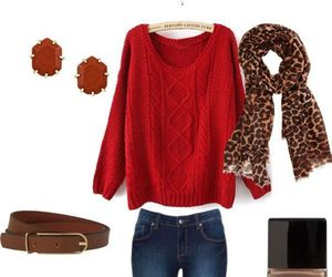 outfit and red image
