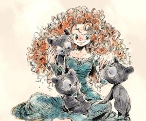 disney, disney princess, and merida image