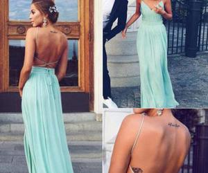 sexy prom dress, simple prom dress, and mint green prom dress image