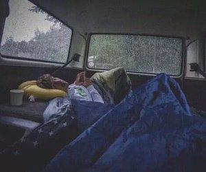 rain, boy, and travel image
