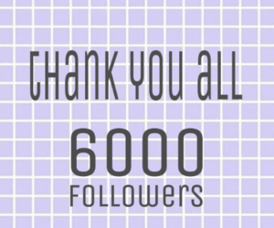6000, thank you, and follow me image