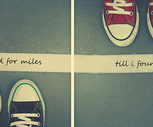 converse, quote, and shoes image