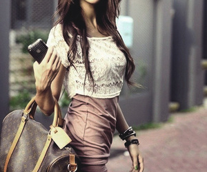 fashion, girl, and bag image