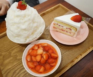berries, ice cream, and japanese food image