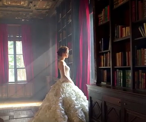 books and white dress image