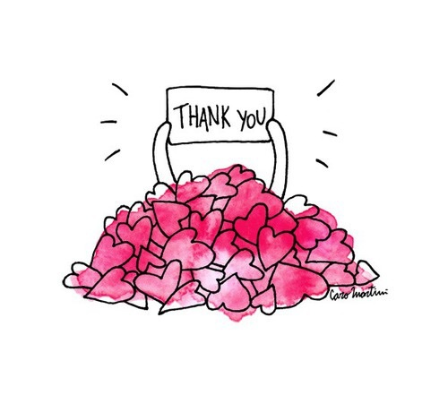 heart, pink, and thank you image