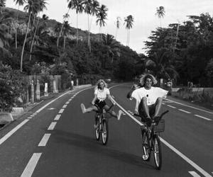 couple, summer, and bike image