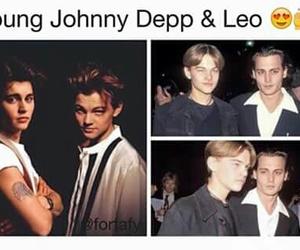 young, johnny depp, and leonardo dicaprio image
