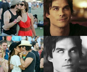 couple, ian somerhalder, and delena image