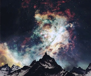 beautiful, mountain, and universe image