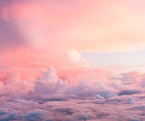 beautiful, pink, and clouds image