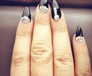 black and nails image