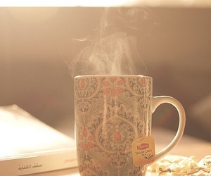 cup, cup of tea, and read image