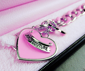 pink, juicy couture, and heart image