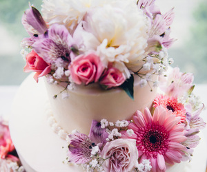 cake, centerpieces, and wedding image