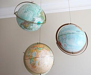 world, globe, and aesthetic image