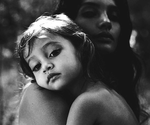 black and white and mother image