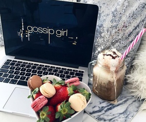 gossip girl, food, and strawberry image