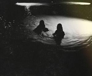 art, bikini, and black and white image