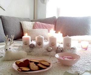 candles, living, and interior image