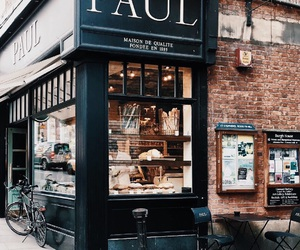 architecture, cafe, and french image