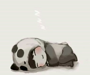 panda, kawaii, and fanart image