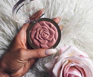 makeup, rose, and pink image