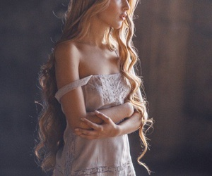 girl, beauty, and long hair image