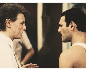 david bowie, Freddie Mercury, and under pressure image