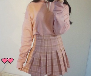 clothes, korean, and pink image