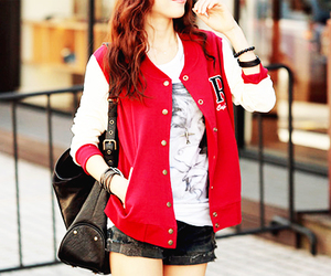fashion, red, and jacket image