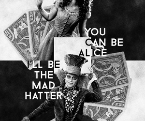 alice, alice in wonderland, and black and white image