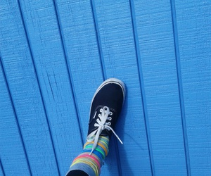 aesthetic, blue, and vans image