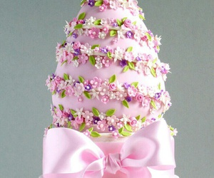 cake, flowers, and easter image