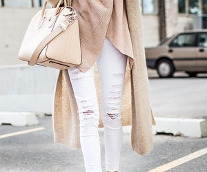 cardigan, distressed, and style image