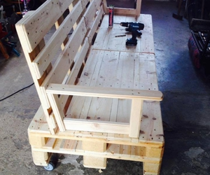 pallet sofa ideas, pallet couches, and pallet patio sofa image