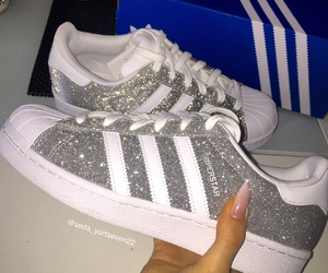 adidas, sneakers, and glitter image