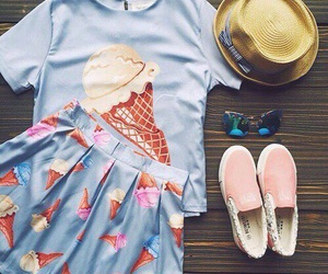 ice cream, outfit, and clothes image